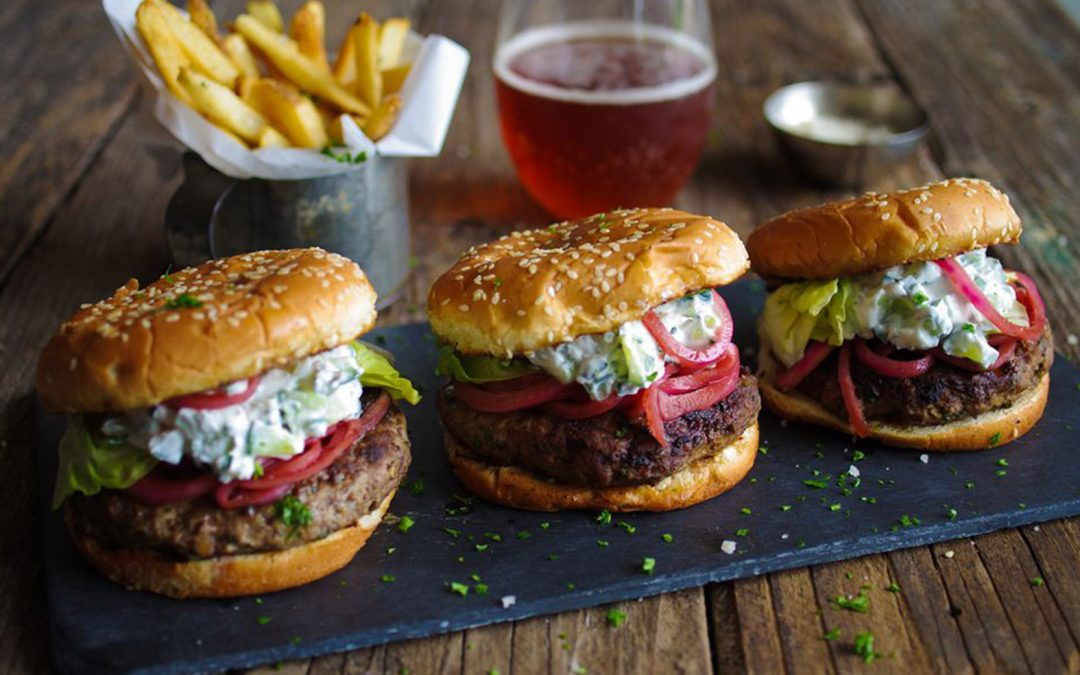 Scrumptious Grilled Spicy Lamb Burgers